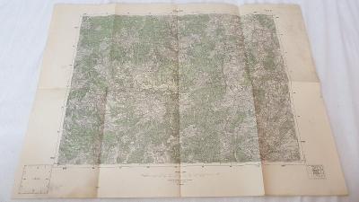 Stará vojenská mapa 1936-Přimda-Česky les-Hostouň-Bor-Ronšperk-Stráž