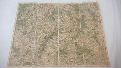 Stará vojenská mapa 1928-Moravské Budějovice-Želetava-Dačice-Telč