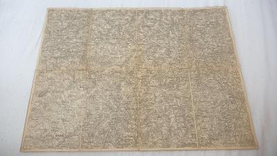 Stará vojenská mapa 1924-Kamenice n. Lipou-Pelhřimov-Cerekev-Pacov