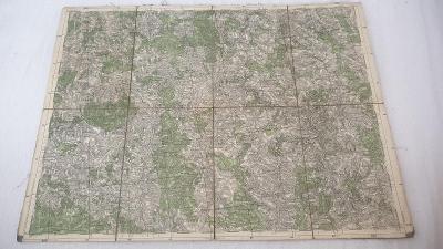 Stará vojenská mapa 1937-Jihlava-Polná-N.Rychnov-Stonařov-Třešť