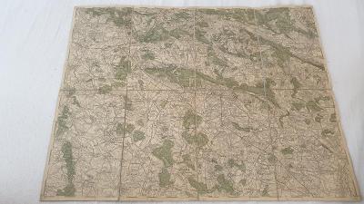 Stará vojenská mapa 1925-Jičín-Horice-Laz.Bělohrad-Miletín-Smidary