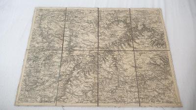 Stará vojenská mapa 1925-Slavonice-Drosemdorf-Kojatice-Menhartice