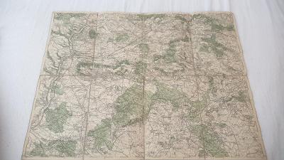Stará vojenská mapa 1928-Mladá Boleslav-Kopidlno-Sobotka-Loučen
