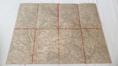 Stará vojenská mapa 1928-Turnov-Č.Dub-Osečná-Rovensko-Žel.Brod-Tanvald