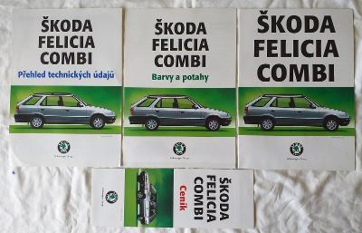 3.kusy brožur a 1. katalog Škoda Felicia  Combi  r.1996 a r.1997
