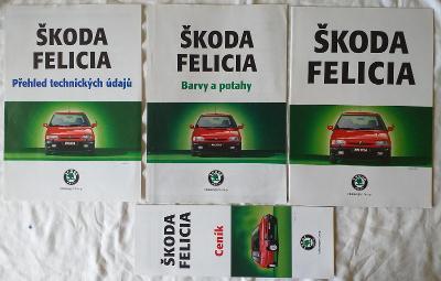 3.kusy brožur a 1. katalog Škoda Felicia    r.1996 a r.1997