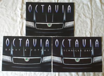2.kusy brožur a 1. katalog Škoda Octavia   r.1996 a r.1997