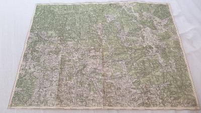 Stará vojenská mapa 1935-Kunžvart-Šumava-SUDETY-České trouby- Vltavice