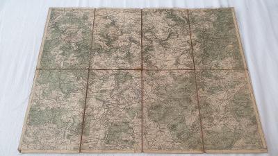 Stará vojenská mapa 1930-Královice-Plzeň-Zbiroh-Liblín-Kožlany-Mýto-