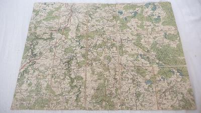 Stará vojenská mapa 1934-České Budějovice- Nové Hrady- Borovany