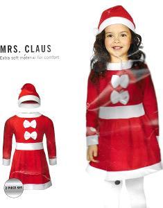 Dívčí vánoční set MRS.CLAUS  2-4 roky NOVÝ