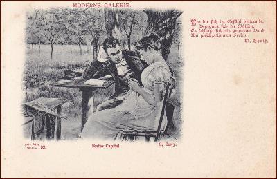 Žena * muž, dvojice, láska, báseň, umělecká, gratulační * M1249