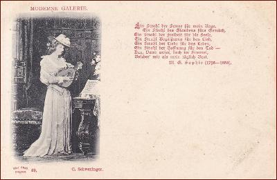 Žena * hudebník, loutna, báseň, umělecká, gratulační * M1495