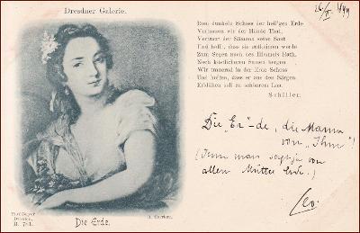 Žena * země, živel, portrét, báseň, umělecká, gratulační * M3620