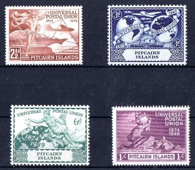 Pitcairn Isl.1949, kompl. serie 75 let UPU, omnibus, svěží