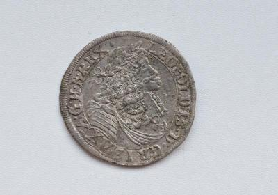 LEOPOLD I - XV KREJCAR 1685 Mainz ! HEZKÝ A VZÁCNÝ !!! LP-10