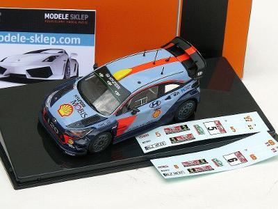 NEUVILLE or MIKKELSEN HYUNDAI i20 WRC RALLY GB WALES 2017 IXO RAM645c