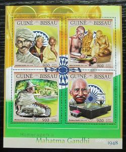 Guinea-Bissau 2016 Mahatma Gandhí Mi# 8654-57 Kat 13.50€ 1191