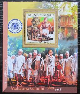 Guinea-Bissau 2016 Mahatma Gandhí Mi# Block 1500 Kat 13.50€ 1191