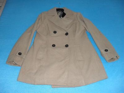 Flaušový kabát, vel. XL - NOVÝ s visačkou