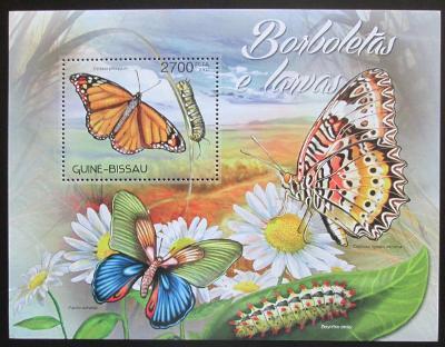Guinea-Bissau 2012 Motýli Mi# Block 1095 Kat 10€ 0467