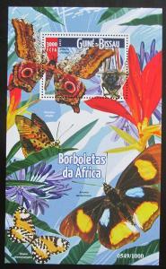 Guinea-Bissau 2015 Motýli Mi# Block 1403 Kat 13€ 0467