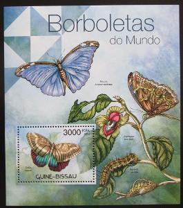 Guinea-Bissau 2012 Motýli Mi# Block 1040 Kat 12€ 0467
