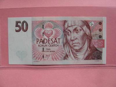Vzácná UNC bankovka 50 Kč 1997, série E 23 !!!