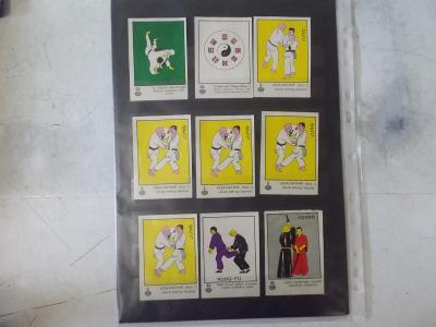 Reklamní kartička karta série sada Judo Kung Fu Kendo bojové umění