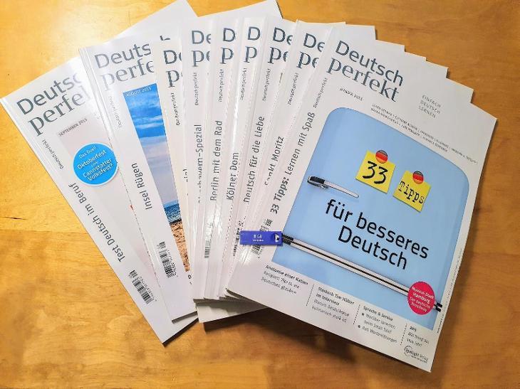 NEJLEPŠÍ VÝUKA NĚMČINY - Časopisy DEUTSCH PERFEKT + AUDIO + GRAMATIKA! - Učebnice