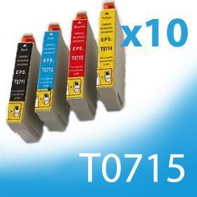 10 x kompatibilní náplně pro EPSON T0711,  T0712, T0713, T0714