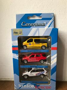 CARARAMA 1/72 SADA MERCEDES, RENAULT, BMW ZÁCHRANÁŘI EVROPA