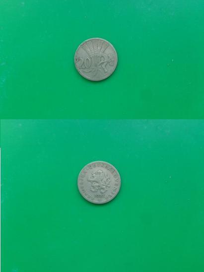 20 haléřů 1927 - Numismatika
