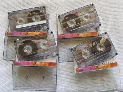 Audio Kazeta TDK D60 TDK D90 TDK D100 Kolekce 13ks MC