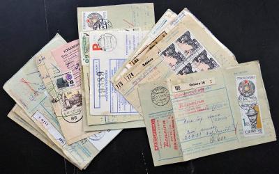 ČSR II - BALÍKOVÉ PRŮVODKY, ZAJÍMAVÉ KUSY, 17 KS, VŠE NAFOCENO (S911)