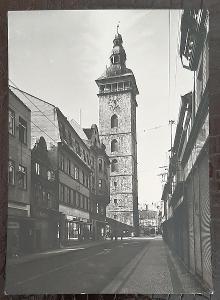 České Budějovice Černá věž obchod auto