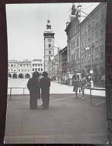 České Budějovice Žižkovo náměstí Černá věž obchod telefonní budka