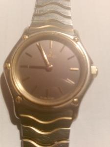 EBEL Dámské zlaté švýcarské hodinky wave