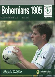 program fotbal - Bohemians 1905 - Baník Sokolov - 2007