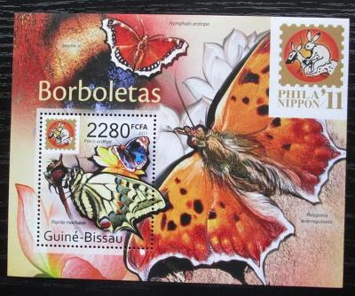 Guinea-Bissau 2011 Motýli Mi# Block 933 Kat 9€ 0703