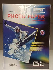 fotopapír formátu A4 180g s lesklým povrchem pro ink. tisk 100 list