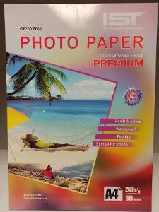 fotopapír formátu A4 260g s lesklým povrchem pro ink. tisk 50 list