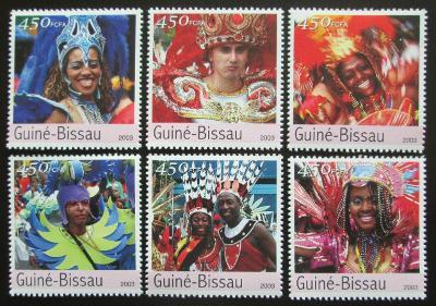 Guinea-Bissau 2003 Světové karnevaly Mi# 2363-68 Kat 11€ 0718