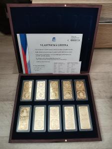 Milion Dollar Collection - pozlacená sada cihlicek