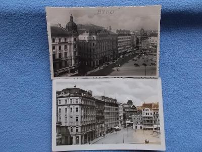 Pohled Morava Brno Brünn 2 kusy sada Náměstí Svobody reál foto