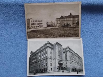 Pohled Morava Brno Brünn 2 kusy sada Nemocnice Žlutý kopec Zemský dům