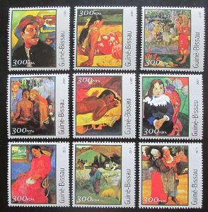 Guinea-Bissau 2001 Umění, Paul Gauguin Mi# 1642-50 Kat 11€ 0730