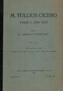Tullius Cicero: Výbor z jeho řečí, 1930