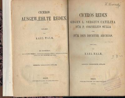Tullius Cicero: AUSGEWAEHLTE REDEN - 2 svazky v jedom, německé vydání