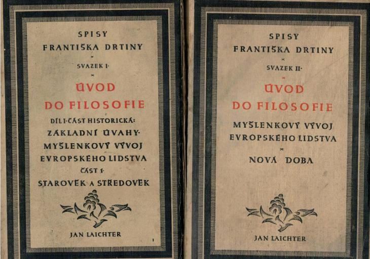 František Drtina: Úvod do filosofie, svazek I a II, 1926 - Knihy